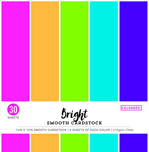 ColorBok 61308C Smooth Cardstock Paper Pad Bright, 12