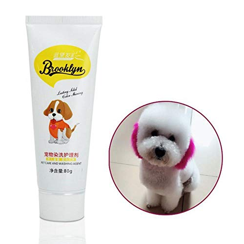 FOONEE Pet Dog Cat Animals Hair Coloring Dyestuffs Dyeing Pigment Agent Supplies (Pink)