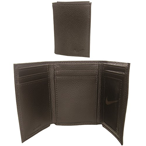 Nike Men's Tri-Fold Leather Wallet with Leave-in License