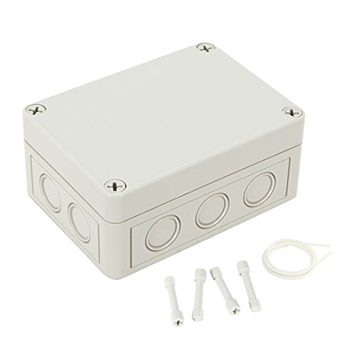 uxcell 5.1'x3.7'x2.24'(130mmx93mmx57mm) ABS Junction Box Universal Electric Project Enclosure