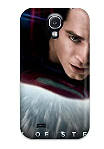 Durable Case For The Galaxy S4- Eco-friendly Retail Packaging(man Of Steel Dc Comics Superhero)