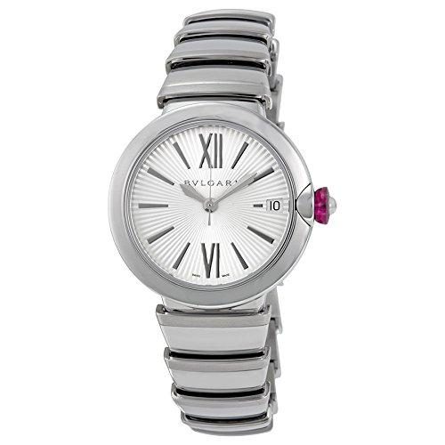 Bvlgari LVCEA Silver Opaline Dial Stainless Steel Ladies Watch 102219