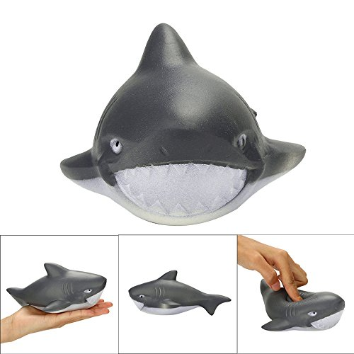 Euone  Squishy Toy, Stress Reliever Scented Super Slow Rising Kids Toy Cute Animal Toy Shark Squeeze