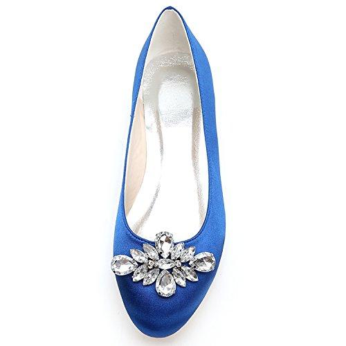 Mano Partido Bombas Elobaby Zapatos De De Planos Seda 6cm A Nuevas del Boda De Cerrado Mujeres Vestido Las TalóN Hecho Dedo Red 0 wSAgqw6az