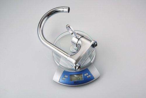 MEIBATH Küchenarmatur Küchenarmatur Küchenarmatur Mischbatterie Küche Wasserhahn Spültischarmatur 1 Bohrung 360° drehbarer Warmes und kaltes Wasser Wasserhahn 9b689b
