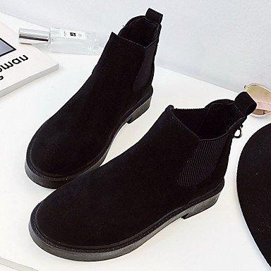 Puntera UK3 5 Negro Caída Bajo De RTRY Casual Botas EU36 US5 Talón El Mujer Moda Caqui Gore Redonda Zapatos La 5 CN35 De For Suede Botas AHg1Oq
