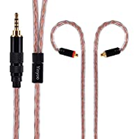 MMCX Headphone Cable Yinyoo Golden Treasure Silver Plated Copper Cable Balanced Earbuds Cable Earphones Replacement Cable With 2.5mm Stereo Plug for Shure UE900 SE215 SE315 SE846 535 fiio f9(mmcx 2.5)