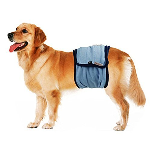 Belly Band Seasons Dog - FakeFace Male Pet Dog Puppy in Season Heat Pants Wrap Belly Band Comfortable Washable Urine Diapers Reusable Pet Physiological Sanitary Pants Nursing Nappy For Small Medium Large Dog Boys