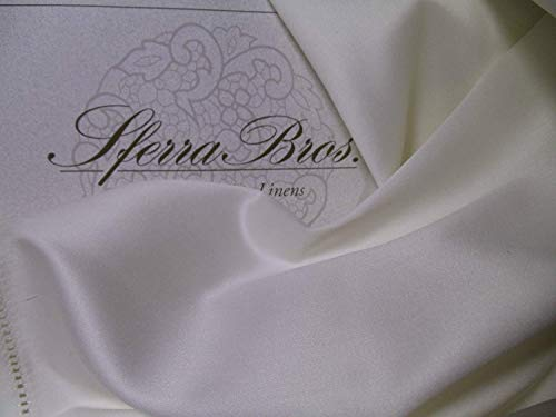 - Sferra 600 Thread Count King Ivory Sheet Set 100% Extra Long Staple Cotton Sateen Made in Italy