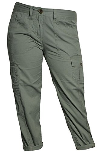 Capri Cargo Pants (Tommy Hilfiger Cargo Crop Pants (4, Ammunition Green))