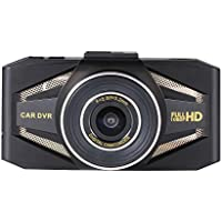 HWZDASHCAM Dash Cam Front Car DVR 140Degree Wide Angle 4x Zoom Lens Night Vision Loop Recording Support 32GB SD Card (Not Included)
