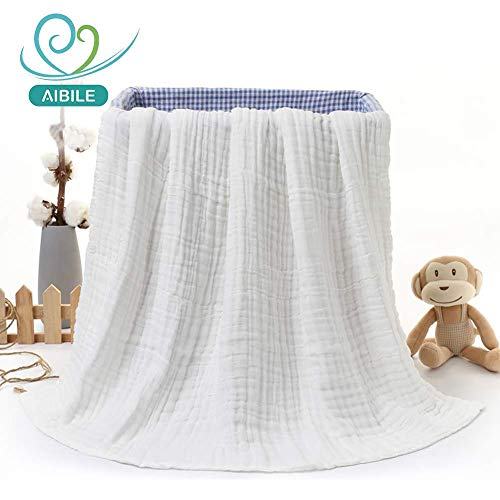 The 6 Layer Baby Bath Towel/Blanket, Water Absorbent, Super Soft Cotton Gauze, Baby Muslin Bath Towels, Stroller Blanket, Swaddle Blanket, Shower Gift -1pc