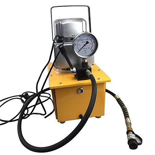 Electric Driven Hydraulic Pump,10000 PSI Single Acting Manual Valve 750W 110V Shipping from USA