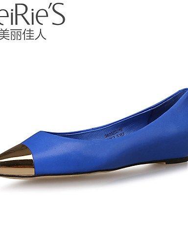 PDX/ Damenschuhe Denim Jeans Flacher Absatz Komfort/Spitzschuh/Geschlossene Zehe Ballerinas Lässig Schwarz/Blau/Rot blue-us7.5 / eu38 / uk5.5 / cn38