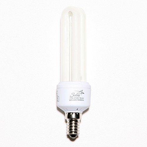 Energiesparlampe E14 11W 2700 K 2U Lampe Leuchte Sparlampe warmweiß Sparleuchte Leuchtmittel