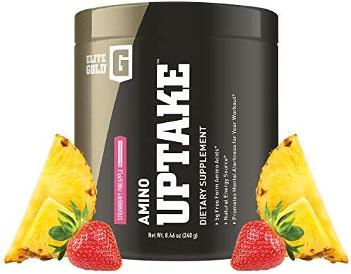 Complete Nutrition Elite Gold Amino Uptake, Strawberry Pineapple, Amino Acid Supplement, Increase Energy, Support Muscle Recovery, Beta Alanine, L Citrulline, 8.46 oz Tub 30 Servings