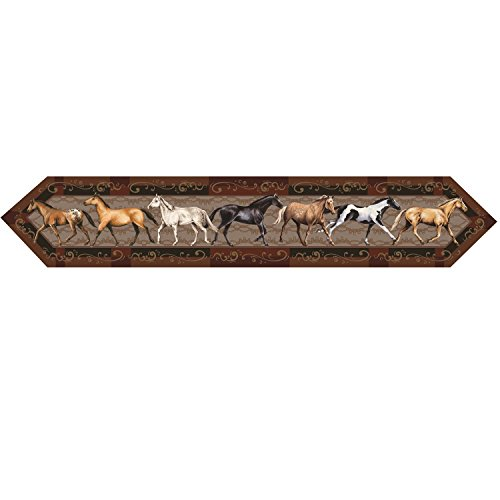 River Runners Edge (River's Edge Horses Table Runner, 71 x 13