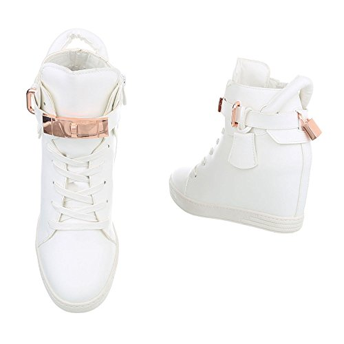 Blanc Femme Ital Chaussures Espadrilles design Mode Baskets High Compensé 52 A Sneakers zx7EOxZqw