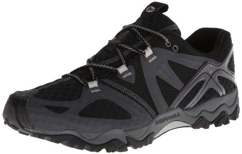 Merrell Men's Grassbow Air Trail Running Shoe,Black/Silver,10.5 M US J24727