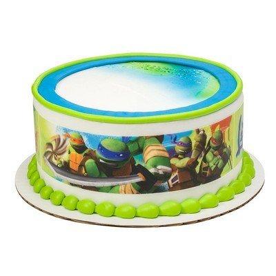 Teenage Mutant Ninja Turtles Cake Strips Licensed Edible Cake Topper #8414 ()