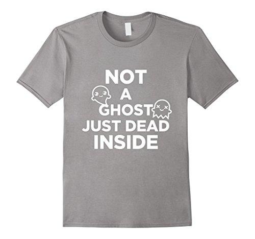 Heavy Metal Halloween Costume Ideas (Mens Halloween Ghost Tshirt | Not A Ghost Just Dead Inside 2XL Slate)