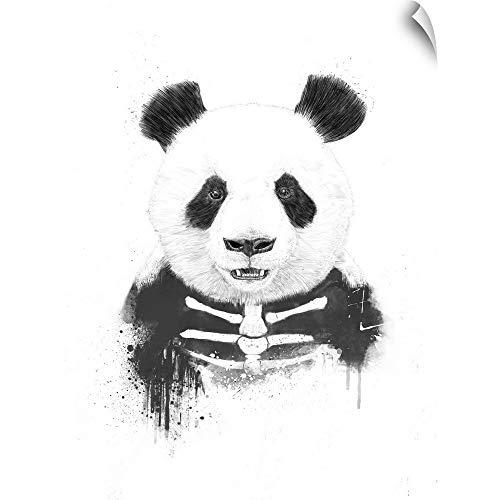 CANVAS ON DEMAND Zombie Panda Wall Peel Art Print, 45