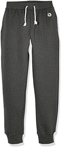 Kid Nation Kids' Soft Brushed Fleece Casual Pull-On Jogger Sweatpant with Pockets for Boys or Girls S Heather Charcoal Gray