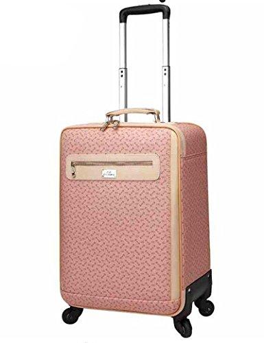 PVC Pink Passwort Caster Aluminium Alu Trolley Taschen Gepäck Taschen ( größe : 22 inch )