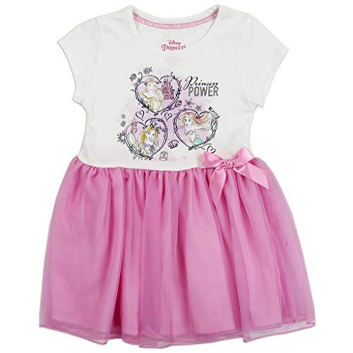 Disney Girls' Toddler Princess Power Graphic-Print Tutu-Dress, White/Multi 3T -