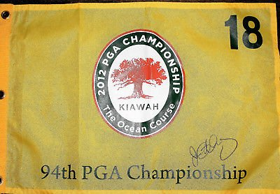 Rory McIlroy Signed 2012 PGA Championship Golf Flag w/COA Major Kiawah Island A