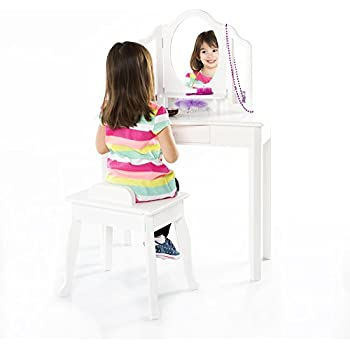Amazon Com Kidkraft Deluxe Vanity Amp Chair Toy Kitchen