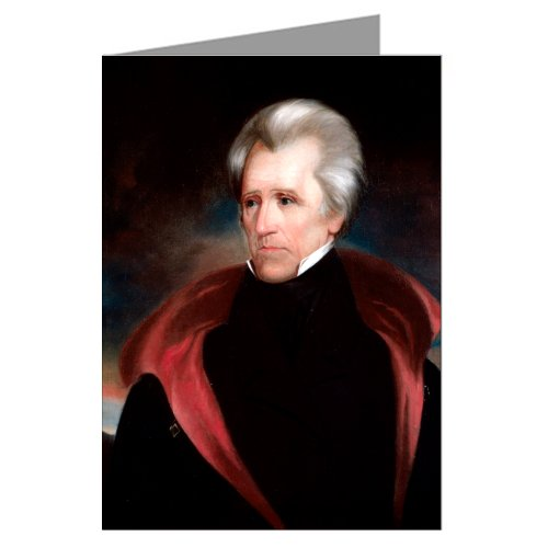 Price comparison product image Single Vintage Greeting Card of Andrew Jackson by Ralph Eleaser Whiteside Earl c 1811.