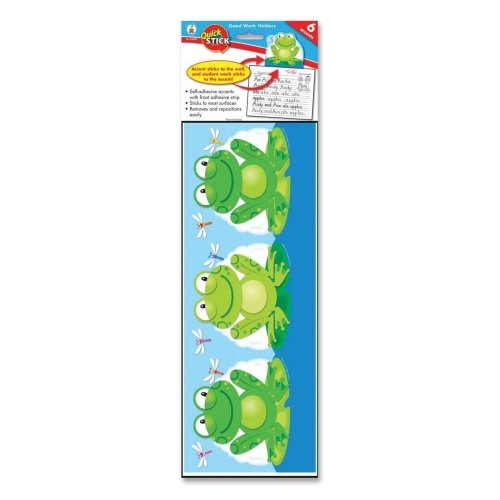 Self Adhesive Carson (Wholesale CASE of 20 - Carson Quick Stick Good Work Holder Frogs-Frog Work Holder, Self-Adhesive, 5