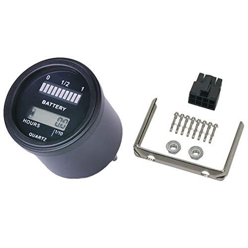 TOOGOO Rl-Bi011 Battery Gauge Agm Gel Volt Meter Battery Indicator With Hour Meter For Motorcycle Atv Tractor Cleaning Machine: