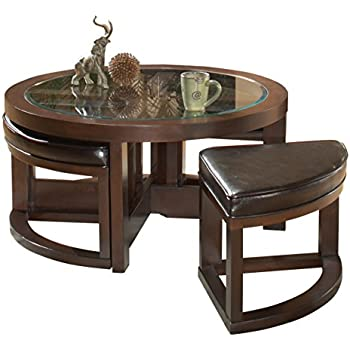 Amazon Com Homelegance Brussel Ii Round Cocktail Table
