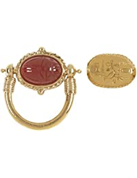 for Fall - Egyptian Scarab Engraved Carnelian Swivel Ring from Our Museum Store Collection