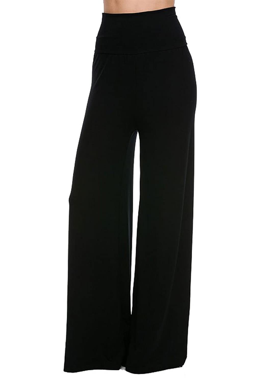 Vina Vino Womens Stretch Wide Leg Soft Rayon Palazzo Pants