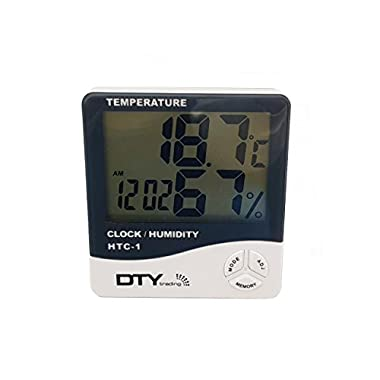 HTC-1 - BFHTC-1Humidity Time Display Meter with Alarm Clock, Wall Mount or Table Top, Multicolour 13