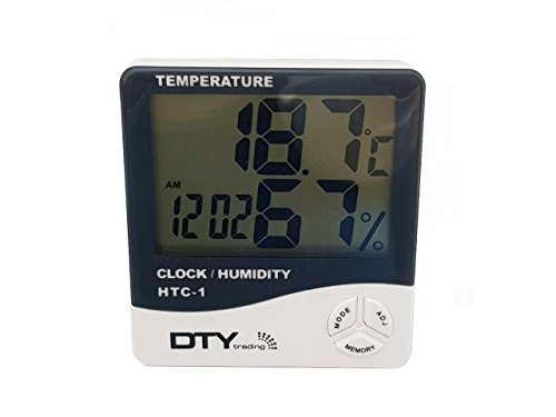 HTC-1 - BFHTC-1Humidity Time Display Meter with Alarm Clock, Wall Mount or Table Top, Multicolour 6