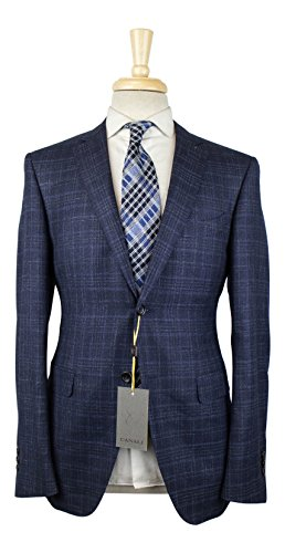 Canali 1934 Blue Cashmere Blend 2 Button Suit Size for sale  Delivered anywhere in USA