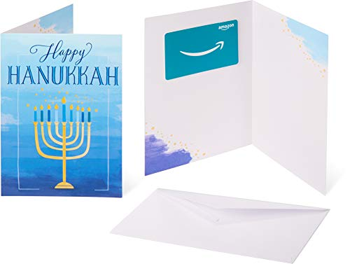 Amazon.com Gift Card in a Greeting Card -  Hannukah Wishes Design]()