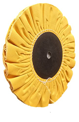 Divine Brothers 311007AH 15 Ply Fray Ryte Cotton Buff 1//2-Inch Arbor Hole 8-Inch Diameter Hard Yellow Builders World Wholesale Distribution 1-1//2-Inch Core