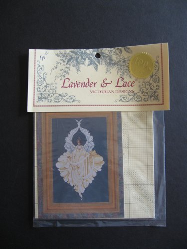 Cross Stitch Lace - Lavender and Lace Peace Angel Cross Stitch Pattern Victorian Designs