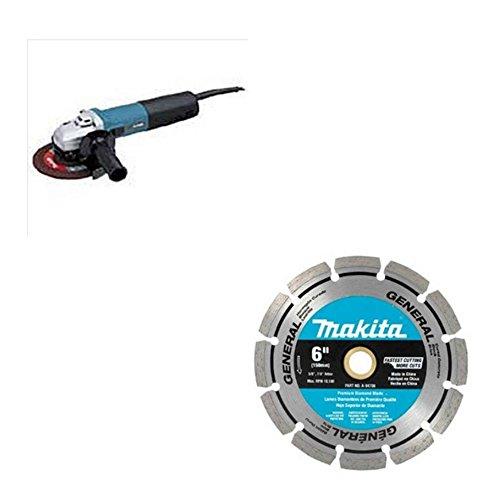 Makita 9566CV 6 inch Indl CO Angle Grinder VRS & Makita 9565CV 5 inch Angle Grinder VRS