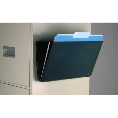 Officemate Magnetic Wall File Letter Size, Smoke (21451) - Magnetic Triple File Pocket