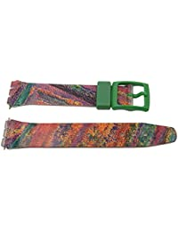 17mm Soft PVC Swatch Style Multicolored Replacement Watch Band