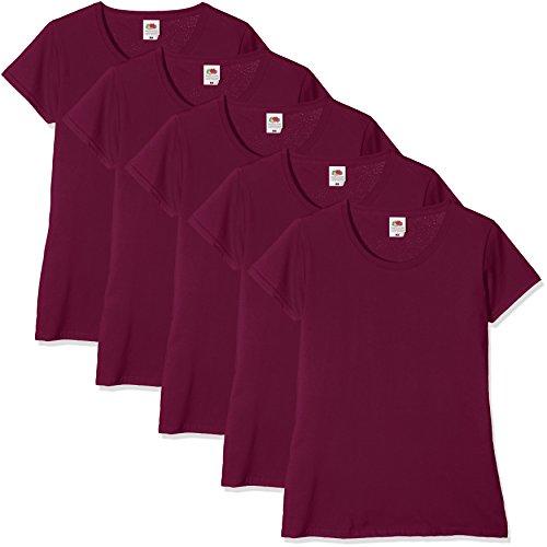 da donna Loom The 41 burgundy Of Maglietta Red 5 da Fruit pacco 65wX40q
