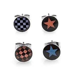 amazoncom trendy stainless steel 4 stud earrings set