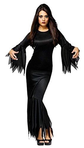 Madam Morticia Costume - One Size - Dress Size 4-14 - Elvira Costume Size 14