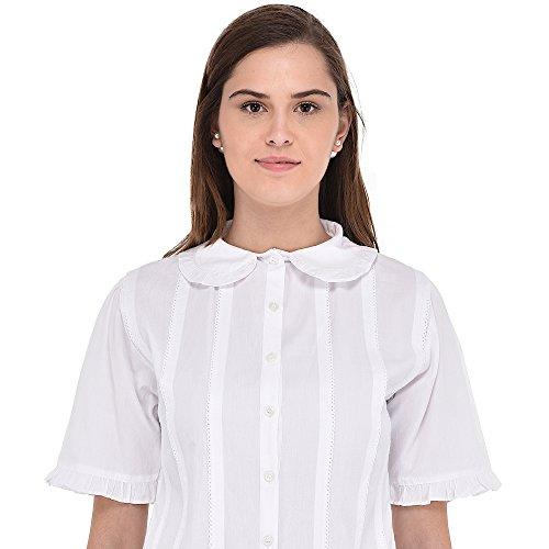 Collar Classic White Peter Pan Blouse Cotton Lane q4ztw6f